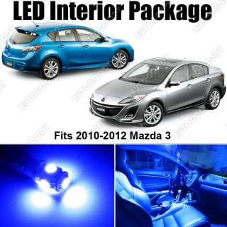BLUE LED Lights Interior Package Deal for Mazda 3 Speed3