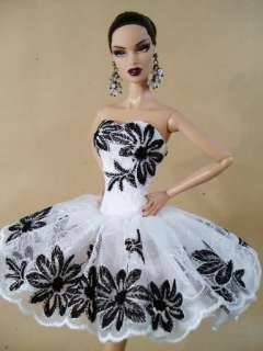 Model Clothes Gown Dress Outfit Silkstone Barbie Fashion Royalty Candi