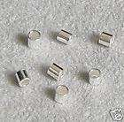 100 Sterling Silver CRIMP BEAD 2x2mm Tube Spacer 2MM