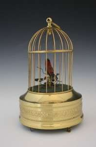 19C FRENCH SINGING CAGED BIRD MUSIC BOX