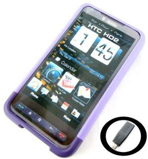 New OEM T Mobile Purple Slide in Hard Shell Cover Case HTC HD2 + Free