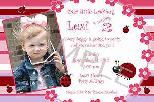 Ladybug Personalized Birthday Invitations & Party Favors