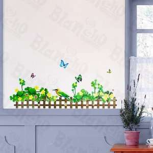 HEMU LB 1640   Green Fence 2   Wall Decals Stickers Appliques Home