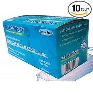 Adenna FEL110B Earloop Face Masks, 3 ply, 4 fold, Blue, 50 Count (Pack