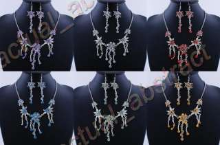 lots 12sets acrylic alloy bridal necklace earring
