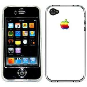 Rainbow Apple Mac Logo White Handmade iPhone 4 4S Full