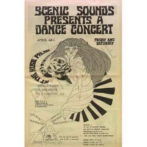 Vanilla Fudge Original Pasadena Concert Poster Ad 1968
