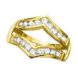 14K Yellow Gold Diamond Ring Guard (1 ctw): DivaDiamonds