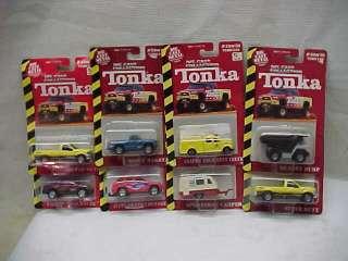 Lot of 8 Tonka Diecast 1/64 Truck Trailers Dodge Ford Jeep Mint On