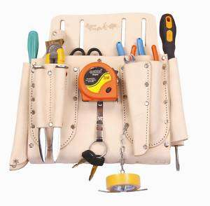 TOP GRAIN LEATHER ELECTRICIANS TOOL POUCH / TOOL BAG