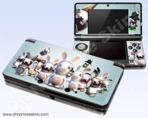 Nintendo 3DS Skin Vinyl Decal   Rayman Raving Rabbids