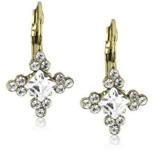 Nina Bridal Nice Gold Swarovski Crystal Square Drop