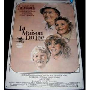 La Maison Du Lac (On Golden Pond) 1981 French Movie Poster (Movie
