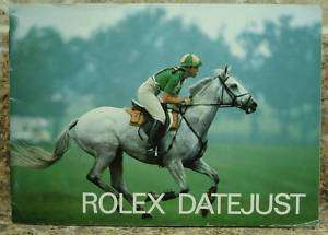 Vintage Rolex Datejust Booklet Manual 1986 English