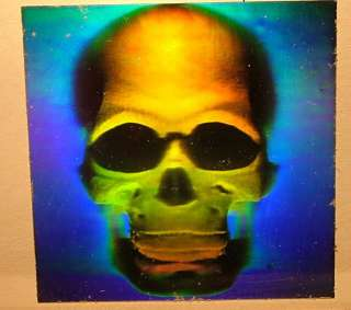 50) Awesome 3D Skull Hologram Stickers Early 80s