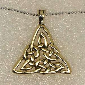 Irish Celtic Triquetra Knot gold plated pewter pendant