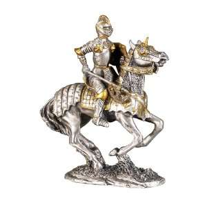 Medieval Knight in Shining Armor Pewter Made:  Home