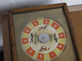 Antique HORSE RACING ROULETTE GAME COIN OP SLOT MACHINE PENNY ARCADE