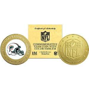 Mint Miami Dolphins Bronze Commemorative Coin Sports & Outdoors