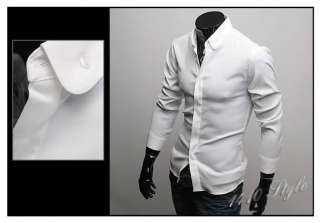 Mens Casual Slim Fit Dress Shirts 2 color 3 size C58