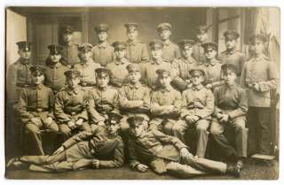 WWI German Real Photo Postcard Nice Group of Younger Soldiers