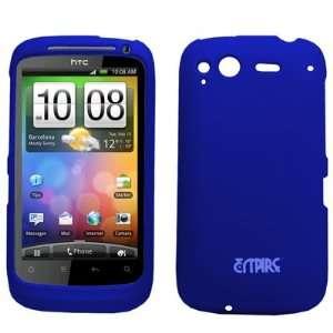 EMPIRE Blue Rubberized Hard Case Cover for HTC Desire S