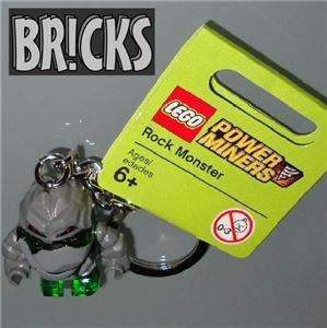 GREEN ROCK MONSTER Minifig Keychain LEGO power miners