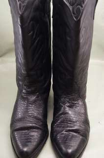 Circle S Black Leather 12 N Mens Western Boots