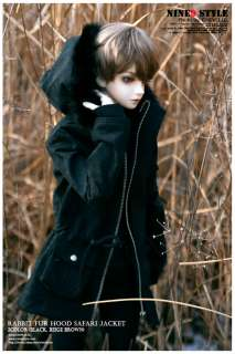hood Safari Jacket(black, beige brown) BJD,70cm,SD17,SD13,MSD clothes