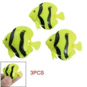 Pcs Aquarium Yellow Black Plastic Floating Fish Decor: Pet Supplies