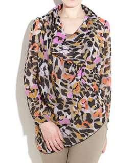 null (Multi Col) John Zack Leopard Print Shirt  242766899  New Look