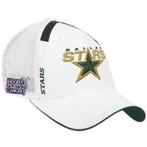 Reebok Dallas Stars White Hockey Fights Cancer Draft Day Flex Fit Hat