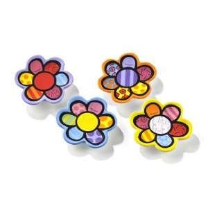 Britto Assorted Flower Tea Bag Holders (4) Patio, Lawn & Garden