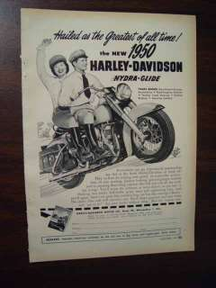 1949 1950 HARLEY DAVIDSON MOTORCYCLE Asian Woman Biker