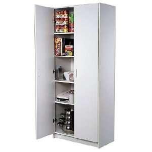Quality White Kitchen Pantry Cabinet Storage Unit Raised Panel Doors