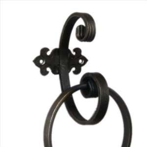 Creede Wrought Iron Scroll Extra Large Towel Ring