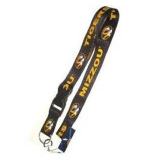 Missouri Tiger Mizzou Lanyard Keychain Id Ticket Clip   Black