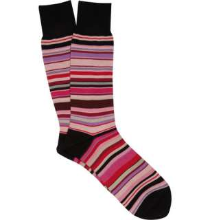 Accessories  Socks  Casual socks  Striped Cotton Blend Socks