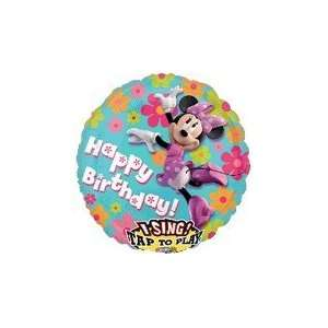 28 Sing A Tune Minnie Mouse Birthday   Mylar Balloon Foil