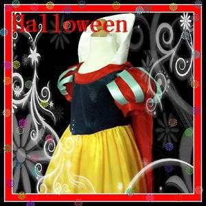 Snow White Princess Girls Dress Costume Age 3 4 5 6 7 8