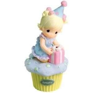 Precious Moments January Birthday Wishes Cupcake Girl
