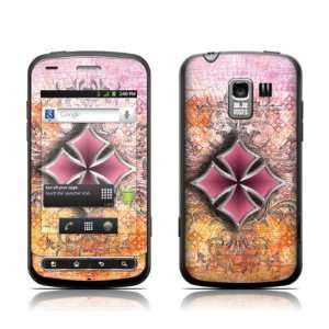 Pink Cross Design Protective Skin Decal Sticker for LG