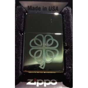 Zippo Custom Lighter   Celtic Clover Irish Shamrock Chamelion Hi