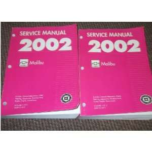 2002 Chevrolet CHEVY Malibu Service Shop Repair Manual Set