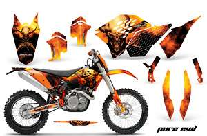 KTM EXC 07 08 09 11 GRAPHICS KIT DECALS PE