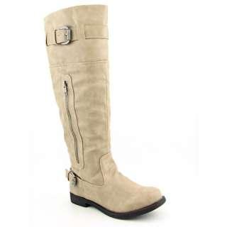 Madden Girl Rickki Womens SZ 7.5 Bone Paris Boots Knee Shoes