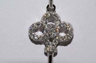 1,000 .18CT ROUND CUT DIAMOND KEY CLUSTER NECKLACE VS 18K WHITE GOLD