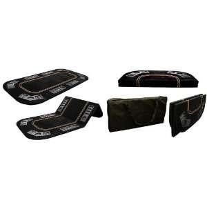 Fold Poker Texas Holdem Table Top with Black Velvet Felt w/ Tote Bag