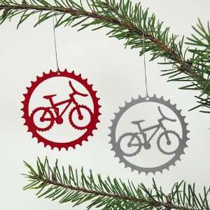 Mountain Bike in Bicycle Sprocket Ornament Set  Sports
