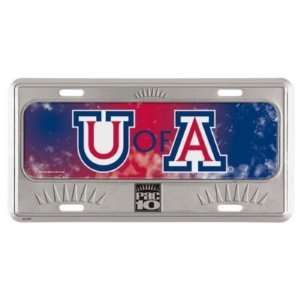 ARIZONA WILDCATS OFFICIAL LOGO METAL LICENSE PLATE Sports